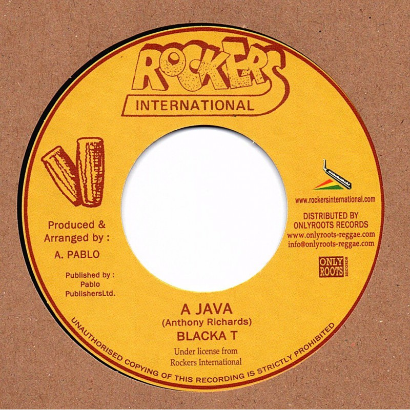 "(7"") BLACKA T - A JAVA / ROCKERS ALL STAR - VERSION"