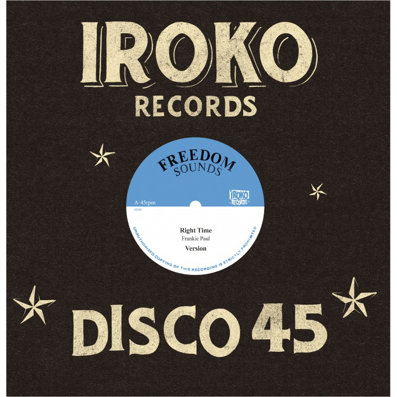 "(12"") FRANKIE PAUL - RIGHT TIME / ROD TAYLOR - IN THE RIGHT WAY"