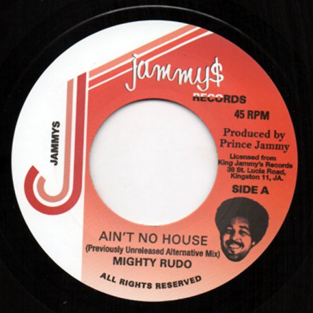 "(7"") MIGHTY RUDO - AIN'T NO HOUSE / WATERHOUSE ROCK DUB"