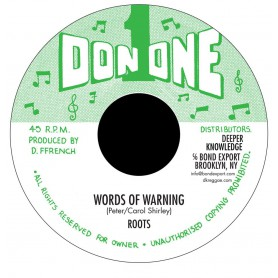 "(7"") ROOTS - WORDS OF WARNING / VERSION"
