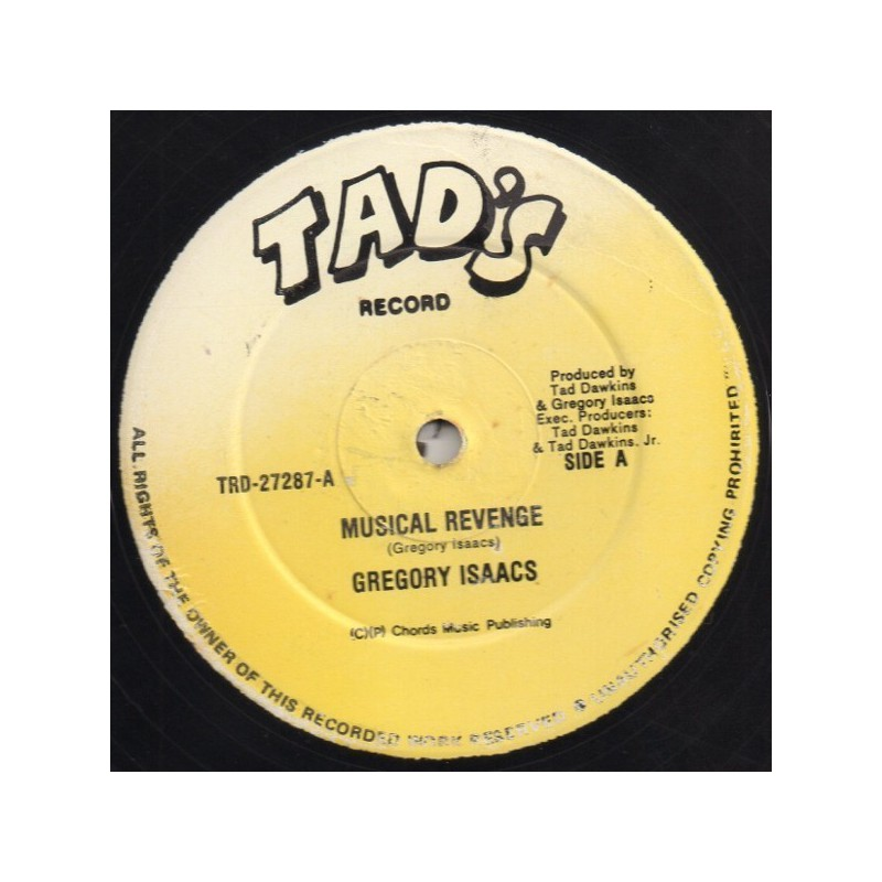 """(12"""") GREGORY ISAACS - MUSICAL REVENGE / VERSION"""