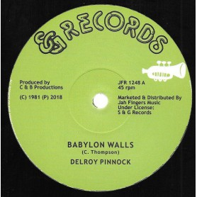 "(12"") DELROY PINNOCK - BABYLON WALLS / I WANT TO BE"