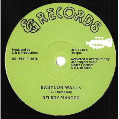 """(12"""") DELROY PINNOCK - BABYLON WALLS / I WANT TO BE"""