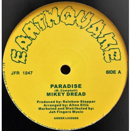 "(12"") MIKEY DREAD - PARADISE / RAINBOW STEPPER - AND BEHOLD"