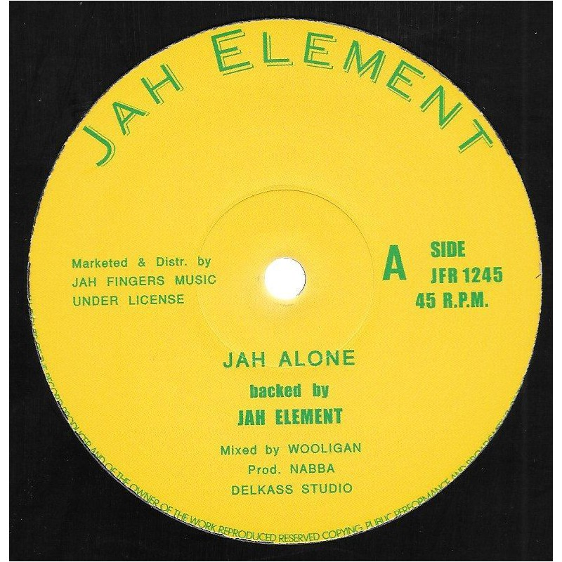 "(12"") JAH ELEMENT - JAH ALONE / SUMMER TIME"