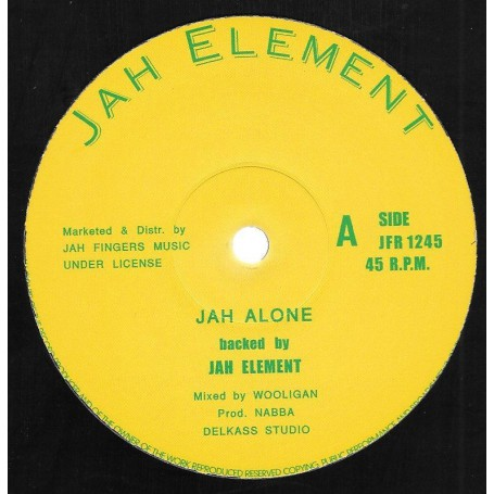 "(12"") JAH ELEMENT - JAH ALONE / SUMMER TIME"
