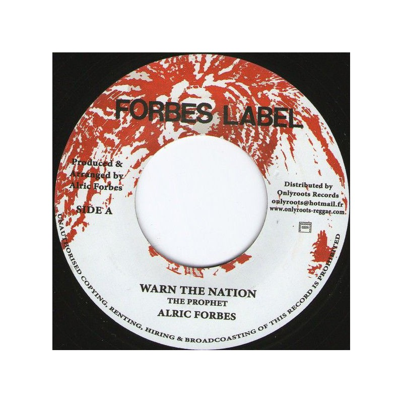 "(7"") ALRIC FORBES - WARN THE NATION"