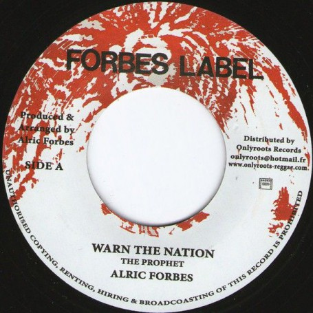 "(7"") ALRIC FORBES - WARN THE NATION / WARNING VERSION"