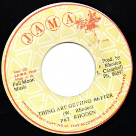 "(7"") PAT RHODEN - THING ARE GETTING BETTER / EARTH PEOPLE - THREE O CLOCK ROCK"