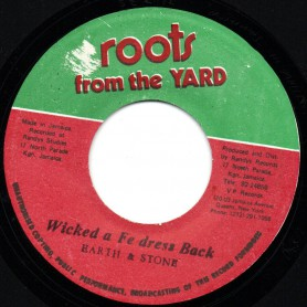 "(7"") EARTH & STONE - WICKED A FE DRESS BACK / THE REVOLUTIONARIES - VERSION"