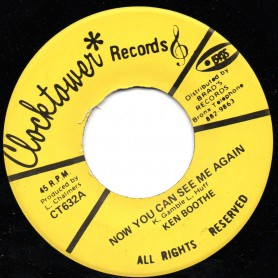 "(7"") KEN BOOTHE - NOW YOU CAN SEE ME AGAIN / CHARMERS BAND - SEE I AGAIN"