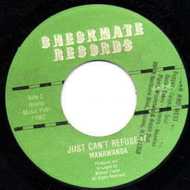 "(7"") RICKY GRANT - SWEET REGGAE MUSIC / MANAWANDA - JUST CAN'T REFUSE IT"