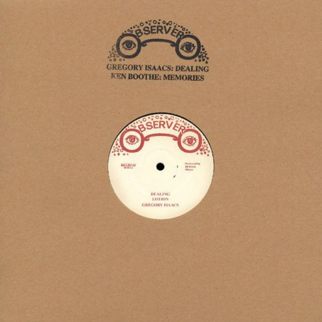 """(12"""") GREGORY ISAACS - DEALING LOTION / KEN BOOTHE - MEMORIES LOTION"""