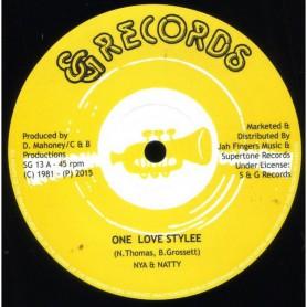 "(12"") NIANATTY - ONE LOVE STYLEE / DESMOND RHYTHM SECTION - VERSION"