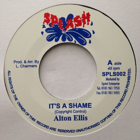 "(7"") ALTON ELLIS - IT'S A SHAME / LLOYD CHARMERS - DUB OF SHAME"