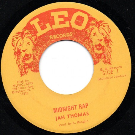"(7"") JAH THOMAS - MIDNIGHT RAP / GG'S ALL STAR - MIDNIGHT RAP DUB (PART2)"