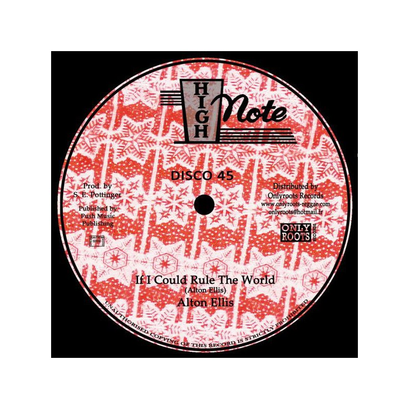 "(12"") ALTON ELLIS - IF I COULD RULE THE WORLD (Extented) / SOUL SYNDICATE - LAVA (Extented)"