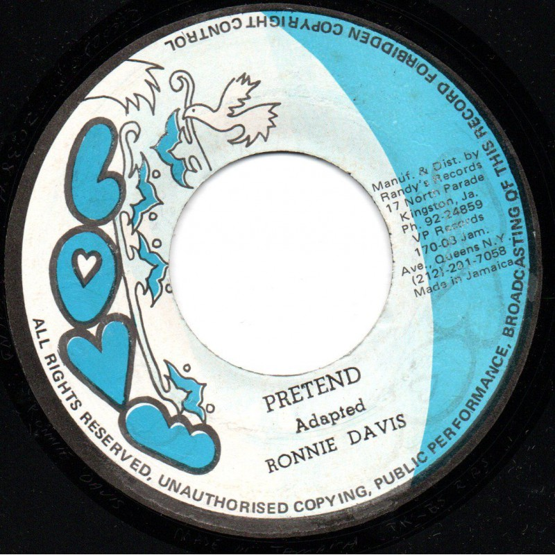 """(7"""") RONNIE DAVIS - PRETEND / PART 2"""