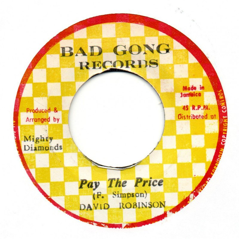 """(7"""") DAVE ROBINSON - PAY THE PRICE / VERSION"""
