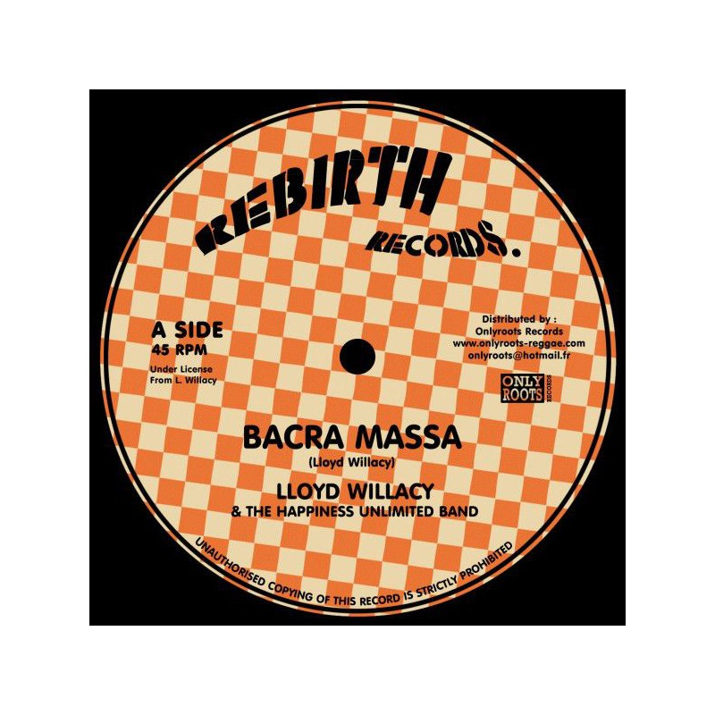 "(12"") LLOYD WILLACY & THE HAPPINESS UNLIMITED BAND - BACRA MASSA / MORE THAN TONGUES"
