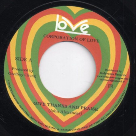 "(7"") JOHN ALEXANDER, CORPORATION OF LOVE - GIVE THANKS & PRAISE / PART 2"