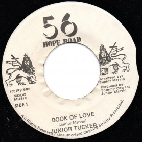 "(7"") JUNIOR TUCKER - BOOK OF LOVE / MAMA ALWAYS TOLD ME VERSION"