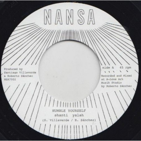 "(7"") SHANTI YALAH - HUMBLE YOURSELF / DUB VERSION"
