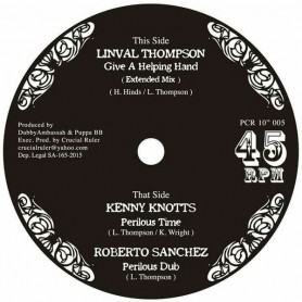 "(10"") LINVAL THOMPSON - GIVE A HELPING HAND / KENNY KNOTS - PERILOUS TIME / ROBERTO SANCHEZ - PERILOUS DUB"