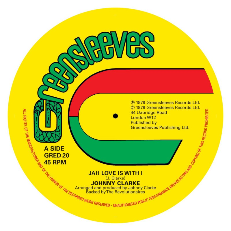 "(12"") JOHNNY CLARKE - JAH LOVE IS WITH I / BAD DAYS ARE GOING"