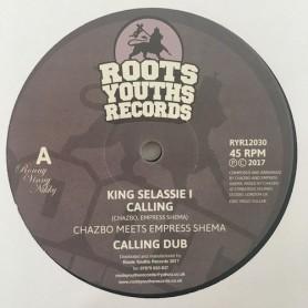 "(12"") CHAZBO MEETS EMPRESS SHEMA - KING SELASSIE I CALLING / AMLAK"