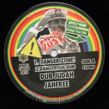 "(12"") DUB JUDAH & JAH FREE - DANGER ZONE / INTO THE ZONE"