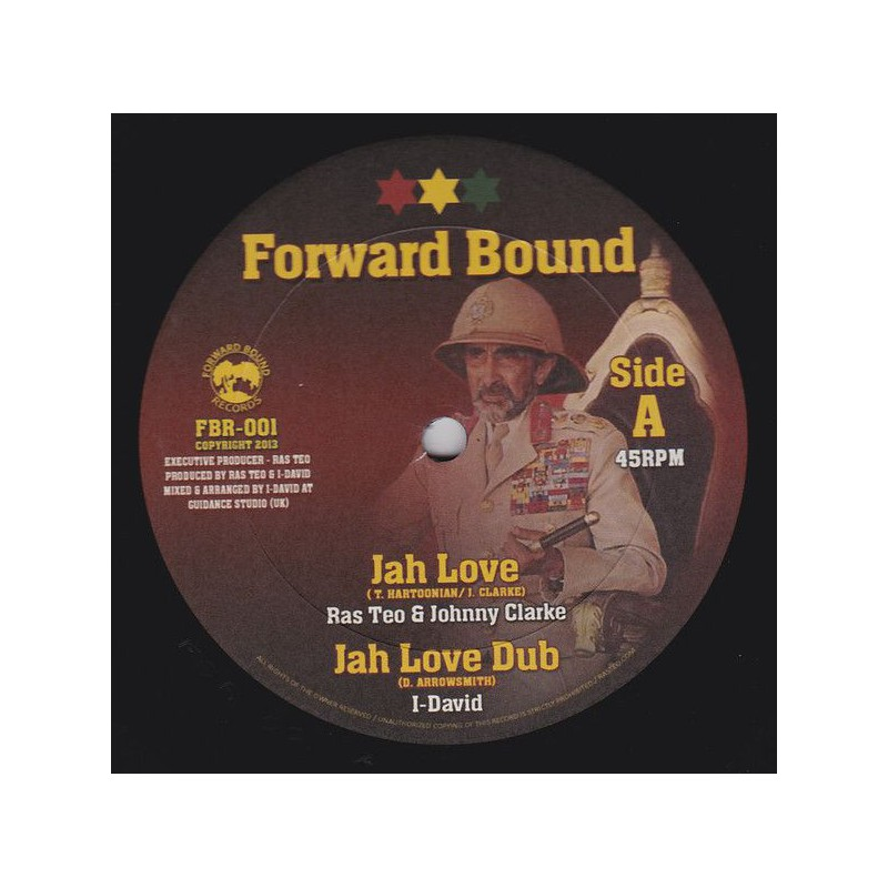 "(10"") RAS TEO & JOHNNY CLARKE - JAH LOVE / RAS TEO & PRINCE ALLA - BORN A FIGHTER"