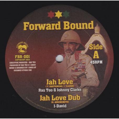 """(10"""") RAS TEO & JOHNNY CLARKE - JAH LOVE / RAS TEO & PRINCE ALLA - BORN A FIGHTER"""