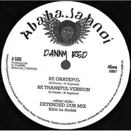 "(10"") DANNY RED - BE GRATEFUL"
