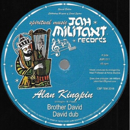 "(12"") ALAN KINGPIN - BROTHER DAVID / MAD PROFESSOR - DAVID DUB"