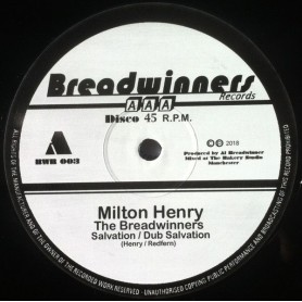 "(12"") MILTON HENRY & THE BREADWINNERS - SALVATION / GOLD DIGGER"