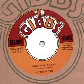 "(10"") DENNIS BROWN - THREE MEALS A DAY / PRINCE ALLAH - NAW GO A THEM BURIAL"
