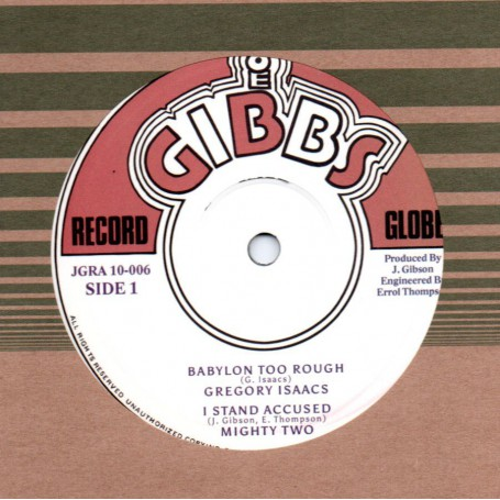 "(10"") GREGORY ISAACS - BABYLON TOO ROUGH / JUNIOR BYLES - HEART AND SOUL"