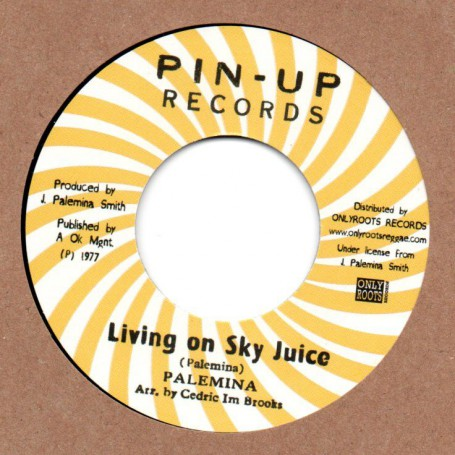 "(7"") PALEMINA - LIVING ON SKY JUICE / BLOOD RELATIVES & FRIENDS - VERSION"