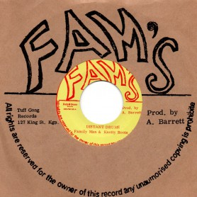 "(7"") FAMILY MAN & KNOTTY ROOTS - DISTANT DRUMS / VERSION"