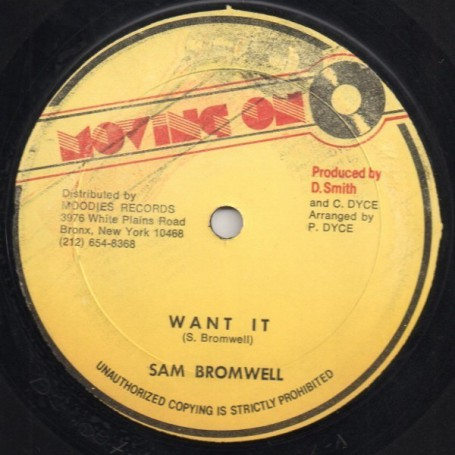 "(12"") SAM BROMWELL - WANT IT / VERSION"