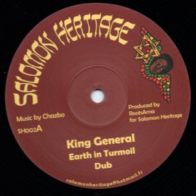 """(12"""") KING GENERAL - EARTH IN TURMOIL / RAS TWEED - STICK IT UP"""