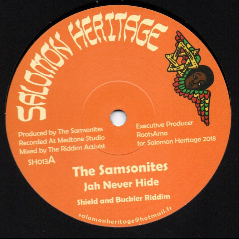 "(12"") THE SAMSONITE - JAH NEVER HIDE / MARCUS GAD - WINGS OF THE WIND"