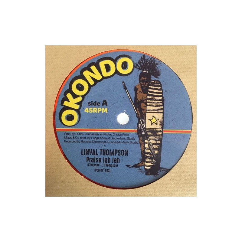 "(7"") LINVAL THOMPSON - PRAISE JAH JAH / VERSION"