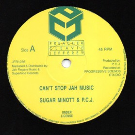 "(12"") SUGAR MINOTT - CAN'T STOP JAH MUSIC / NAH STOP JAH MUSIC"