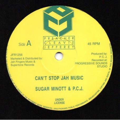 "(12"") SUGAR MINOTT - CAN'T STOP JAH MUSIC / NAH STOP JAH MUSIC"