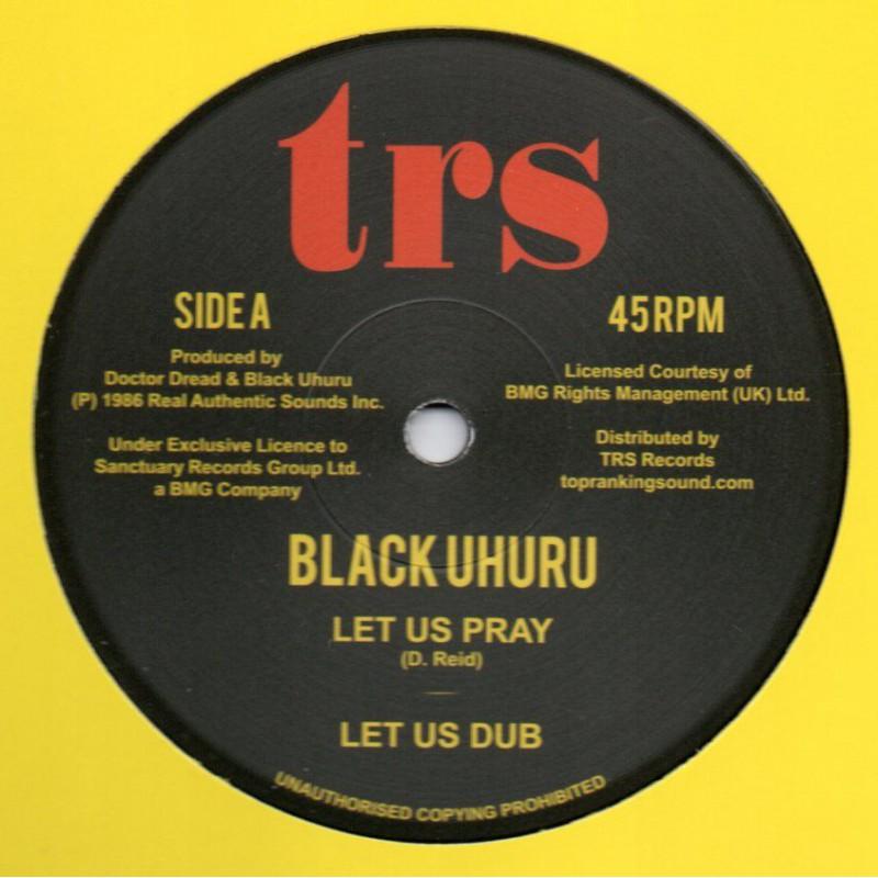 "(12"") BLACK UHURU - LET US PRAY / DREAD IN THE MOUNTAIN"