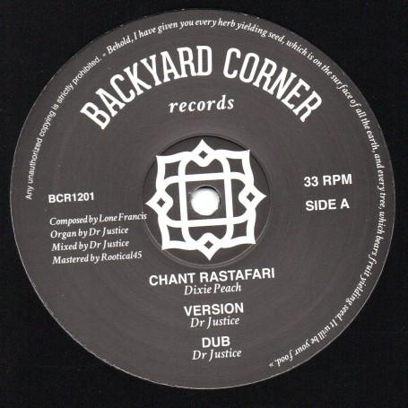 "(12"") DIXIE PEACH - CHANT RASTAFARI / PATRIXX MATICS - ARIGINAL RASTAMAN"