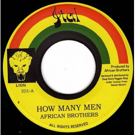 "(7"") AFRICAN BROTHERS - HOW MANY MEN / VERSION"