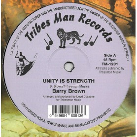 "(12"") BARRY BROWN - UNITY IS STRENGHT / DRUMIE BENJI - HIGHER REGION"